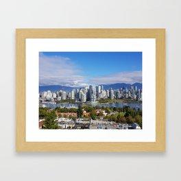 vancouver canada Framed Art Print