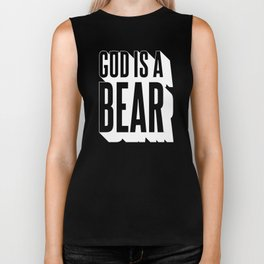 God Is A Bear v.2 - White Biker Tank