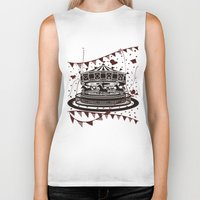 carousel Biker Tanks featuring Carousel by AURA-HYSTERICA