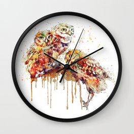 Three Cute Owls Wall Clock