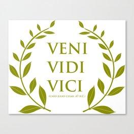 VENI VIDI VICI Canvas Print