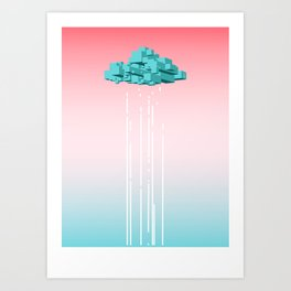 Concrete Cloud Art Print