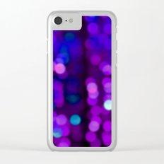 Purple Disco Clear iPhone Case