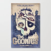 goonies Canvas Prints featuring Goonies by Jared Andolsek