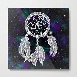Galaxy Dreamcatcher Metal Print