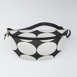 Circular Minimalism - Black & White Fanny Pack