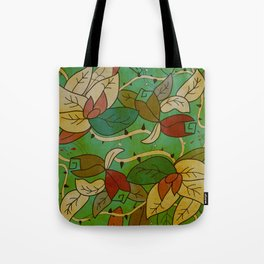 Floral, blood and thorn pattern Tote Bag