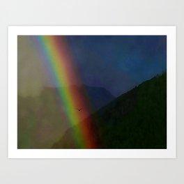 Through the rainbow 2 Art Print