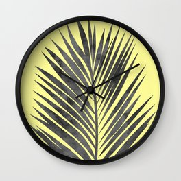Tropical and yellow Wall Clock