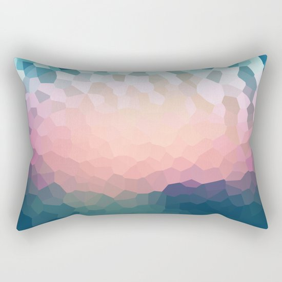 Abstract blue - pink background .  Rectangular Pillow