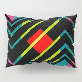 Black diamonds and bright shapes Pillow Sham