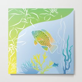 Sea Something Fishy Metal Print
