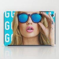 iggy azalea iPad Cases featuring Iggy Azalea Blue by Illuminany