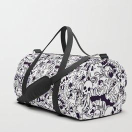 BW Halloween horror pattern Duffle Bag