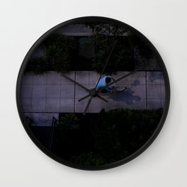 evening ride Wall Clock