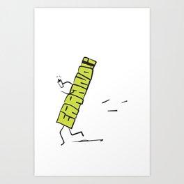 Running Errands Idiom Art Print