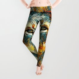 AnimalArt_Lion_20171004_by_JAMColorsSpecial Leggings