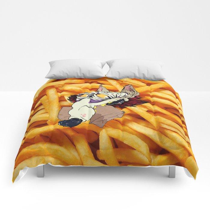Coyote fast food Comforters