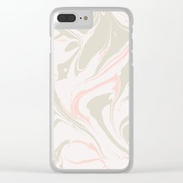 Beige marble pattern Clear iPhone Case
