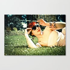 Peace, Love and Diamonds Canvas Print