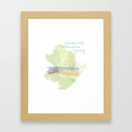 If you really want to fly Framed Art Print