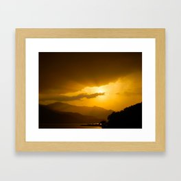 Lake Phewa Sunset, Lakeside, Pokhara, Nepal Framed Art Print