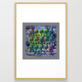 surface tension Framed Art Print