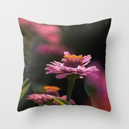 Shadowing Bloom. Throw Pillow