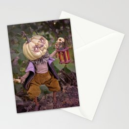 Rucus Studio Pumpkin Man and Fireflies Stationery Cards