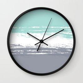 Pastel Color Blocks - Teal & Petroleum Wall Clock
