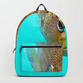 Watercolor Fish, Bluegill Sunfish 01, Blue Grotto, Florida Backpack