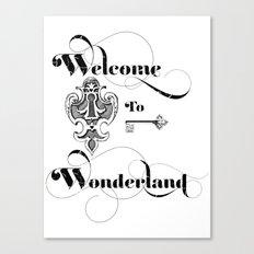 Alice In Wonderland Welcome To Wonderland Canvas Print