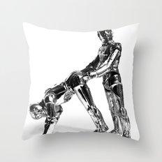 Droid Buttseks Throw Pillow