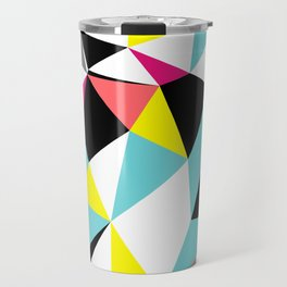Colorful bright geometrical triangles print Travel Mug
