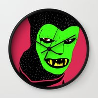 werewolf Wall Clocks featuring Werewolf by Ben Bainbridge