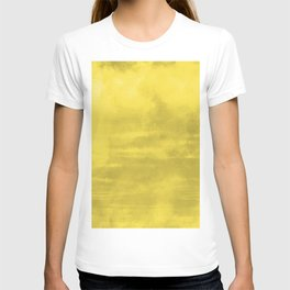 Burst of Color Abstract Watercolor Blend Pantone 2021 Color Of The Year Illuminating 13-0647 T-shirt