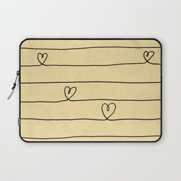 Hearts and Stripes Laptop Sleeve
