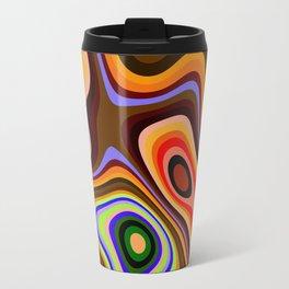Colourful fluid abstract Travel Mug