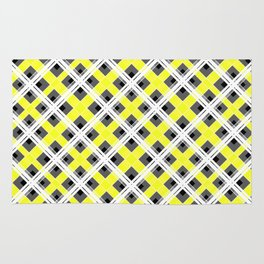 Combo black yellow plaid Rug