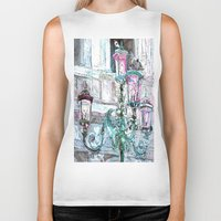lights Biker Tanks featuring lights by Oksana Ivanenko