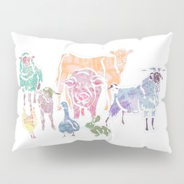 The Colourful Farm Sanctuary Pillow Sham