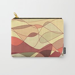 Gold Waves Carry-All Pouch