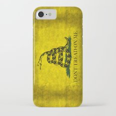Gadsden Don't Tread On Me Flag - Distressed Retro iPhone 7 Slim Case