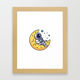On The Moon Framed Art Print