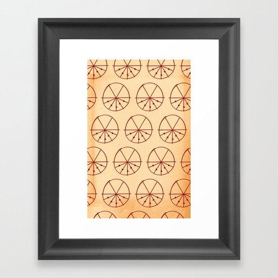 Circle Sections Framed Art Print