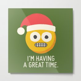 White Knuckle Christmas Metal Print
