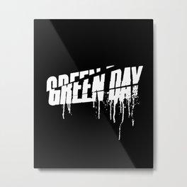 ROCK ART #band logo #Gday #WHITE Metal Print