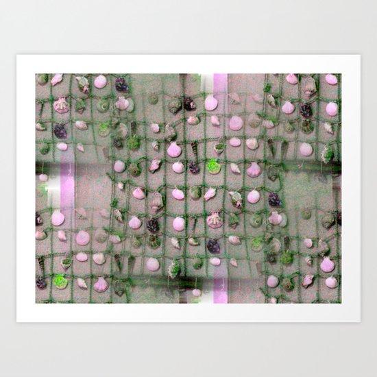 Seamless Seashells Art Print