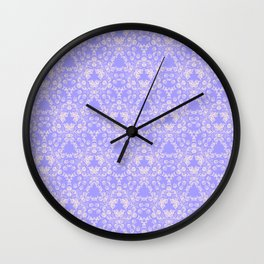 Lavender and Lace Wall Clock