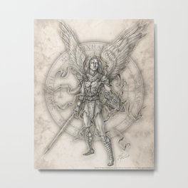 Michael: The Right Hand of God Metal Print